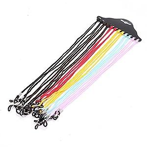 HUELE 12pcs Eyewear Retainer,Nylon Eyewear Cord,Eyeglass Chains Neck String