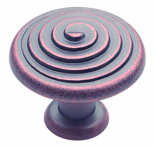 Amerock BP19252WC Divinity Knob Spiral, Weathered Copper, 1-1/4-Inch - Pull Cabinet Spiral Divinity