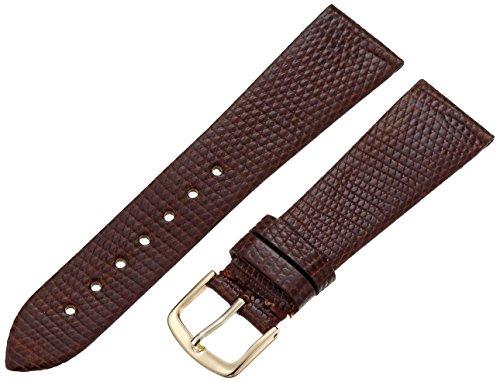 Hadley-Roma Men's MSM700SB-200 20-mm Short Brown Genuine Lizard Leather Watch Strap