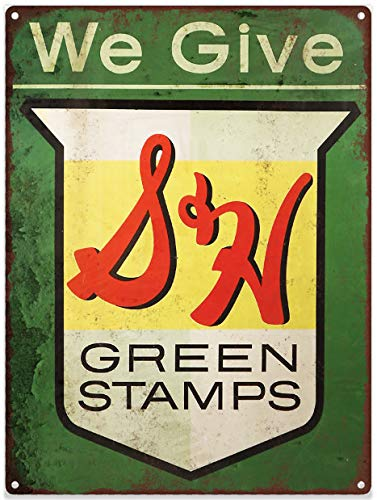 "Yilooom S&H Green Stamps Metal Sign Ad Repro 12""X 18"" for sale  Delivered anywhere in USA"