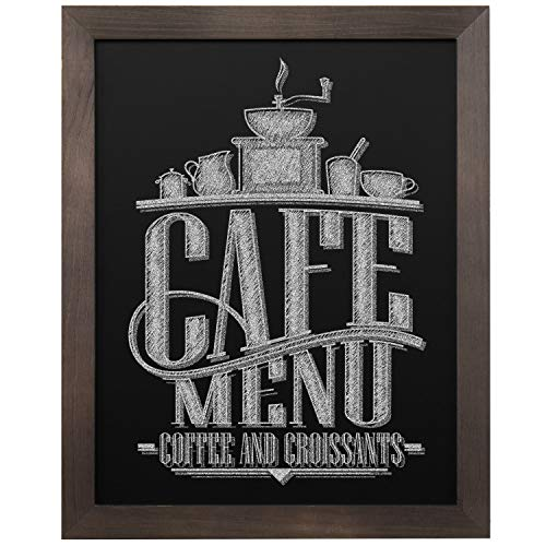 - MyGift 15 X 13 inch Vintage Dark Brown Wood Framed Wall Mounted Chalkboard Sign Message Board