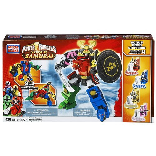 Texas Rangers Blade - Mega Bloks Power Rangers Samurai Megazord with 4 Bonus Mega Mode Power Rangers
