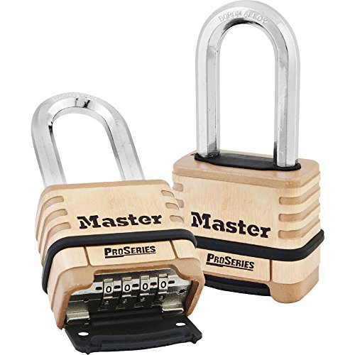 - Master Lock No. 1175LH Resettable Pro Series Combination Padlock, 2-1/16