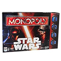 Conquer the Star Wars galaxy in this intergalactic, hyperdrive version of the fast-trading property game, Monopoly! You can play on the Rebel or the Empire side, and your mission is to conquer planets and build bases so you can dominate the u...