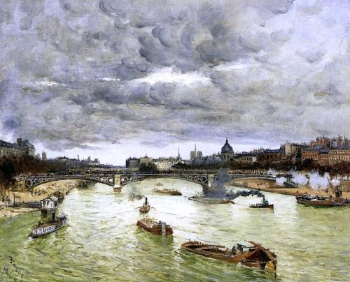Frank Myers Boggs The Seine at Paris with the Pont du Carousel (also known as The Seine at Paris Pont Alexander III) - 24