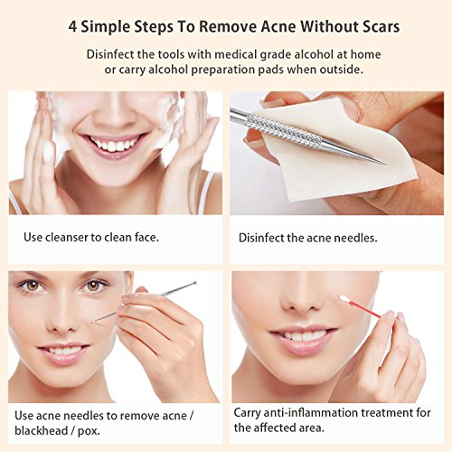 BESTOPE-Blackhead-Remover-Pimple-Comedone-Extractor-Tool-Best-Acne-Removal-Kit-Treatment-for-Blemish-Whitehead-Popping-Zit-Removing-for-Risk-Free-Nose-Face-Skin-with-Metal-Case