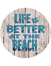 Acquisition Absorbent Stone Better at the Beach Coaster (Coaster, Better at the Beach) online