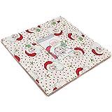 "Swell Christmas Layer Cake Precut 10"" Cotton Fabric Squares"