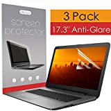 [3-Pack] 17.3 Inch Anti Glare Scratch Proof Laptop Screen Protector, Matte Monitor Cover Protect Notebook Computer, 16:9 Antiglare Shield Filter & Non Reflective Film