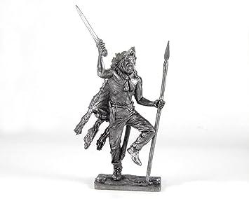 Tin soldier figurine white metal Kit 54 mm Egyptian goddess Isis