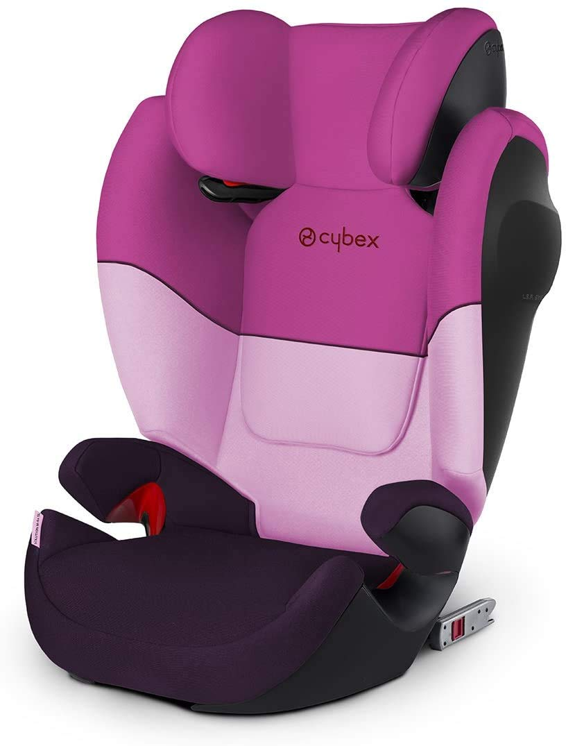 Cybex Silver Solution M-Fix SL Child's Car Seat, High Back Booster, with Reclining Headrest and ISOFIX Compatible, Group 2/3 (15-36 kg), From Approx 3-12 Years, Purple Rain