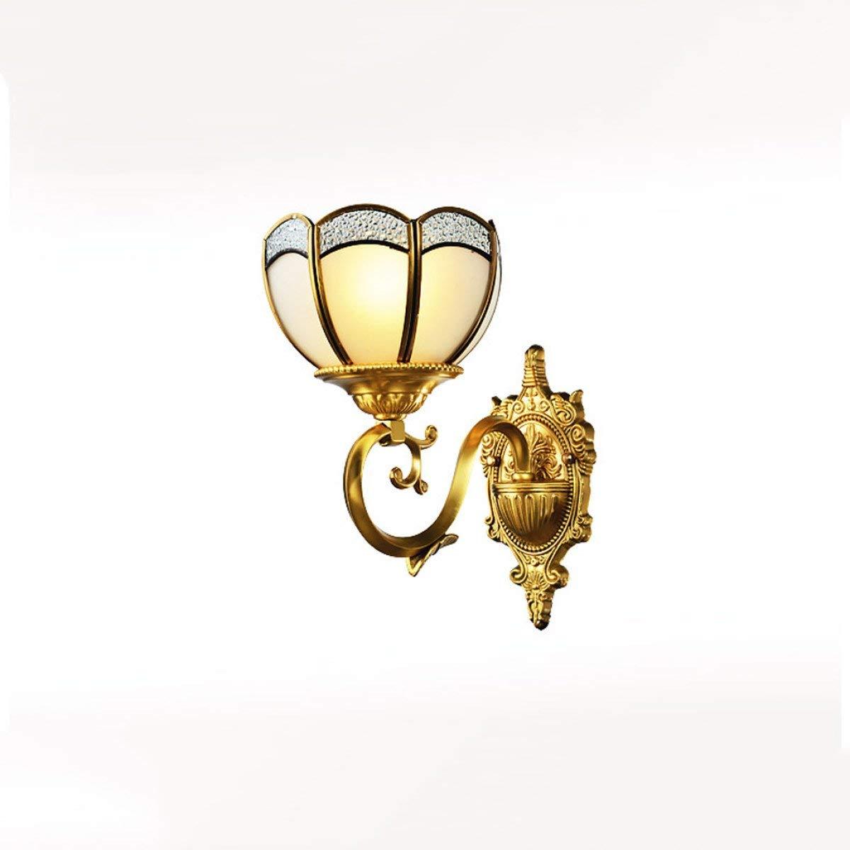 BXJ Europeantyleフル銅ウォールランプリビングルームの壁ランプ寝室の壁ランプベッドヘッド壁ランプ廊下の壁ランプ通路壁ランプE27光源 (Color : A) B07R8L7461 A