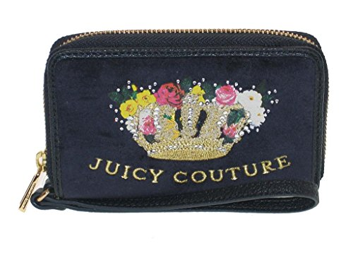 Juicy Couture Navy Blue Tech Wristlet Wallet Crown with - Wallet Juicy Couture Zip Velour