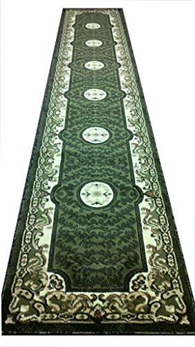 Traditional Long Rug Runner 32 In. X 15 Ft. 10 In. Green 101