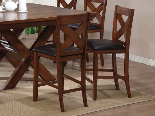 Appollo Counter Height Chair in Walnut Finish by Acme Furniture - Acme Furniture Walnut Finish
