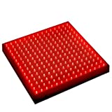 HQRP Red Grow LED Light Panel for Budding and Flowering Promotion 14W 225 630 nm LED + Hanging Kit + UV Meter For Sale