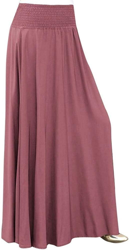 FAMILIZO Faldas Largas Y Elegantes Faldas Cortas Mujer Verano Faldas Mujer Invierno Primavera Vestidos Moda De Mujeres Cintura Elástica Sólido Plisado Falda Vintage Una Línea Suelta Faldas Largas