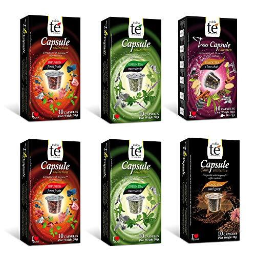 CUIDA TE - Te Capsulas Nespresso, Compatibles con Maquinas Nespresso, 60 Capsulas Te para Nespresso