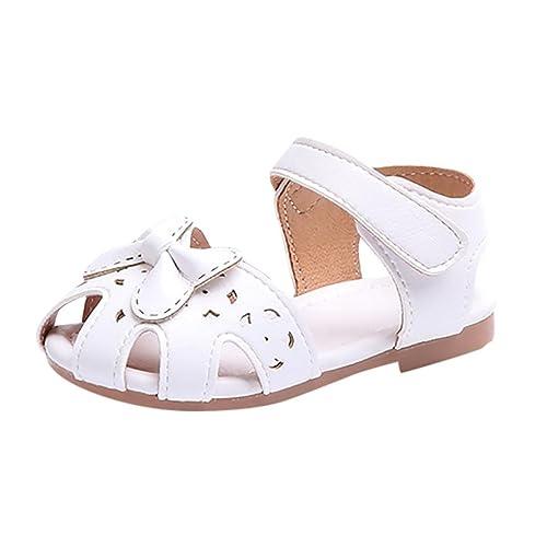 chaussures de sport f2b42 fe40b QinMM Filles Ballerines Princesse Mariage Bowknot, Été Nœud Papillon Creux  Infantile Enfants Non-Slip Sandales Souliers Unique Chaussures ...
