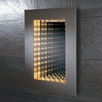 HiB Odyssey Infinity Bathroom Mirror 700mm High X 500mm Wide