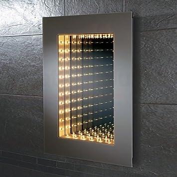 HiB Odyssey Infinity Bathroom Mirror 700mm High X 500mm Wide