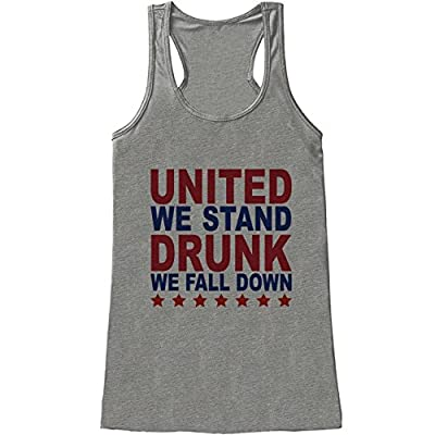 Custom Party Shop Women's Funny United We Stand 4th of July Grey Tank Top