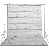 Emart 5x7 ft Photo Video Photography Studio Polyester Backdrop Background Screen (White Washed Wood Floor)