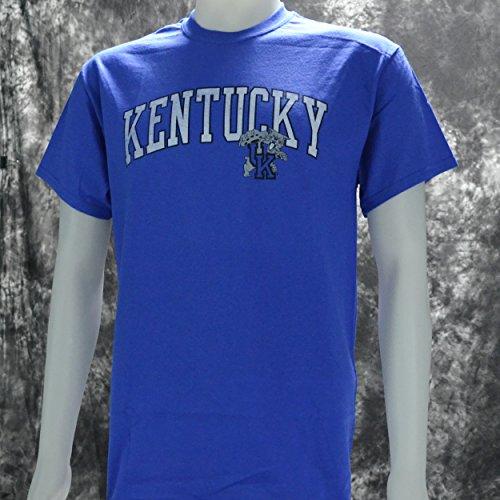 edff31f6c239 University of Kentucky Wildcats UK Basketball KY Arch Distressed Style T  Shirt Blue