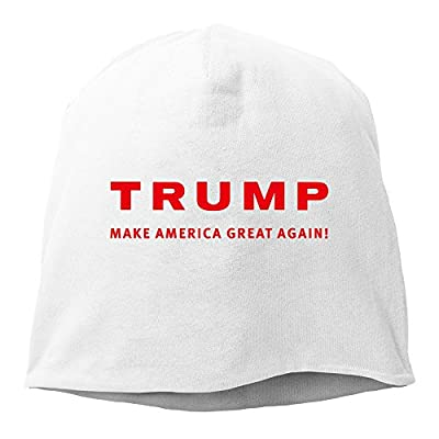 Men Women 2016 Trump Make America Great Again Daily Beanie Hat (6 Colors) White