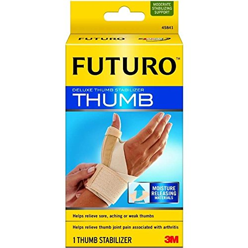 (Futuro Deluxe Thumb Stabilizer, Moderate Stabilizing Support, Large/X-Large, Black)