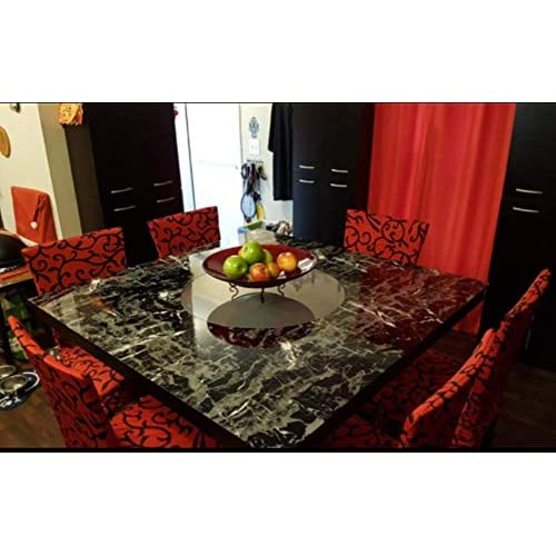 Black-Marble-Contact-Paper-Granite-Wallpaper-Self-Adhesive-Counter-Top-Removable miniature 4