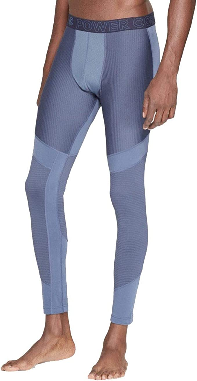 Champion C9 Men S Ribbed Brushed Training Tight Leggings Elevation Blue At Amazon Men S Clothing Store