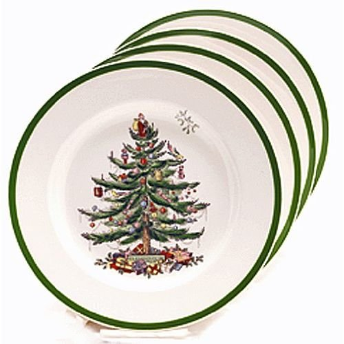 Spode Christmas Tree Bread and Butter Plate, Set of 4 (China Bread)