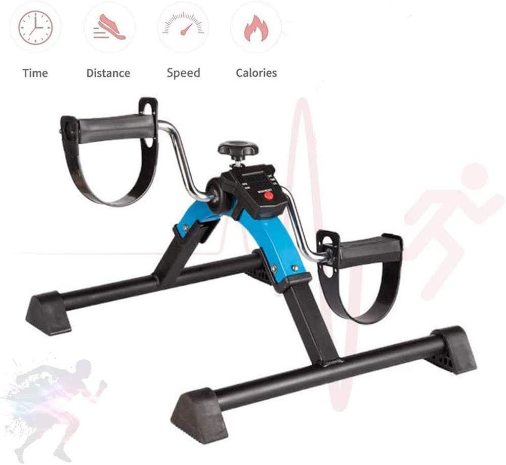 DEAR-JY Mini Bicicletas estáticas Plegables para el hogar,Equipo de Fitness Plegable para Brazos y piernas,para rehabilitación de Ancianos en el hogar y la Oficina Paso a Paso con Monitor LCD