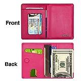LUCKY FLOWER Wallet for Men & Women, RFID Blocking Card Holder, Slim Genuine Leather Purse