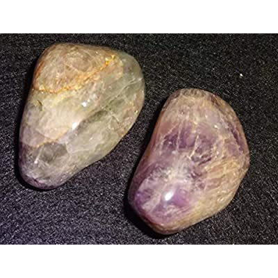 Sublime Gifts 2pc Set Auralite 23 / Large Natural A-Grade Tumbled & Polished / Amazing Color & Markings / Healing Crystal Gemstone: Toys & Games