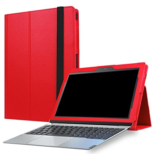 Voberry Luxury Sleep Folding Stand Leather Case Cover Protector For Lenovo Miix 320 Tablet (Red)