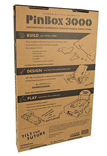 Set of 2 PinBox 3000 DIY Customizable Cardboard Make Your Own Pinball Machine Kit with No Tool Assembly by Cardboard Teck Instantute (Image #5)