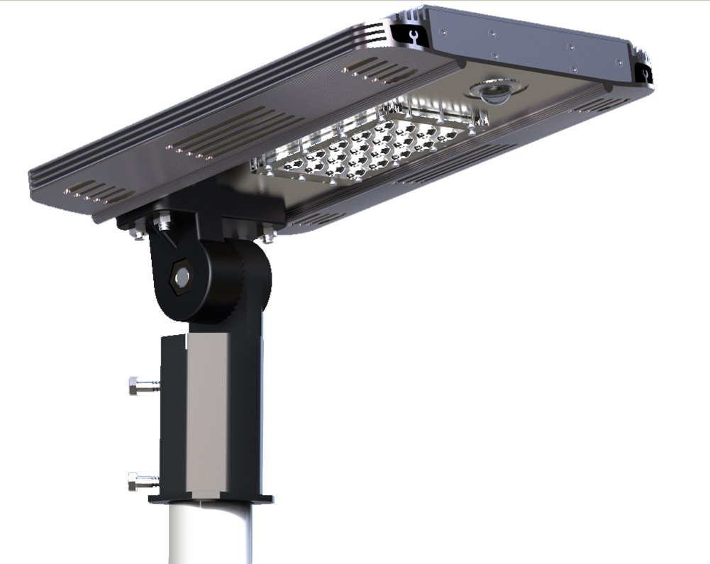 Luxxi High Lumens 20PCS High Brightness LEDs Solar Rechargeable and Intergreated Powered Street Light All In One Outdoor Solar Street Light with Perfect Design - White Light