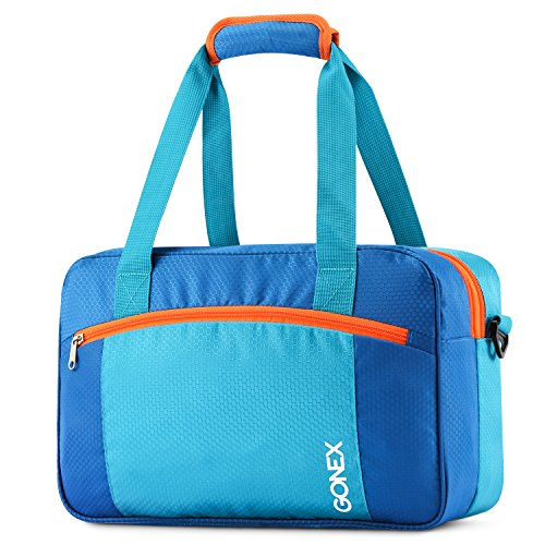 Gonex Swim Bag, Dry Wet Separated Duffle Bag for Gym, Pool, Beach Medium Blue