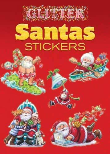 Read Online Glitter Santas Stickers (Dover Little Activity Books Stickers) pdf