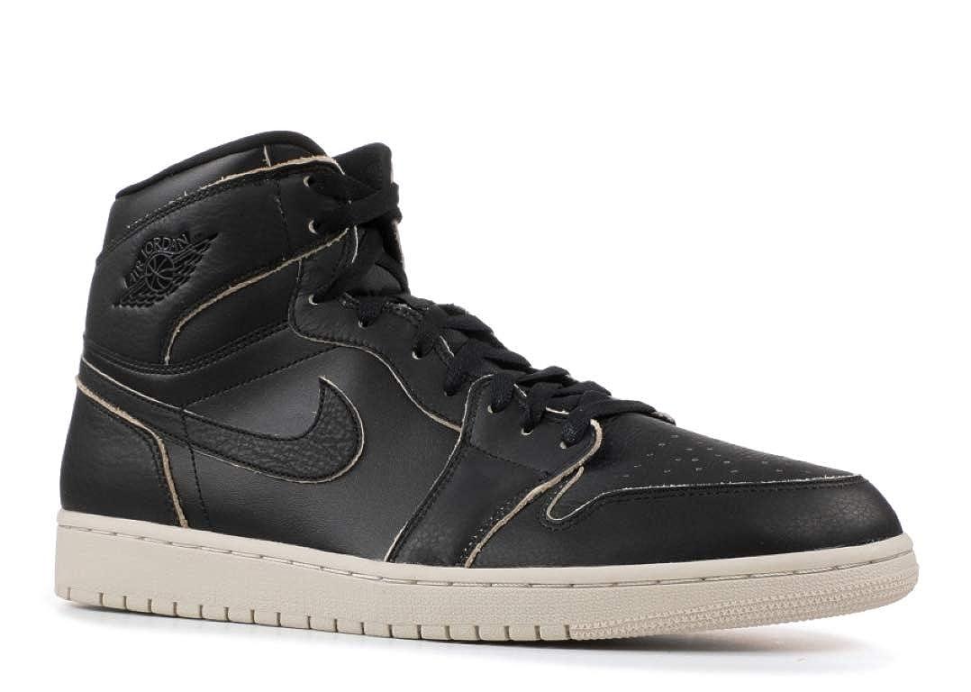 Nike Herren Air Jordan 1 Retro High Premium Premium Premium schwarz Leder Turnschuhe 2f32f5