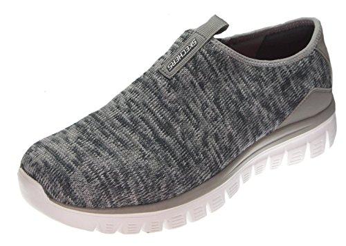 Noir Inside Sneakers Look Empire Blanc Grey Femme Knit Basses Skechers w0q6B5C7