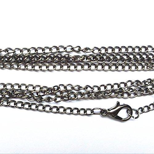 Bulk-Sales-20Pcs-Wholesales-lots-Jewelry-Making-Chains-28-Silver-Black-Bronze-Gold-4-Colors