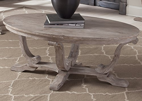 Liberty Furniture 154-OT1010 Greystone Mill Oval Cocktail Table, 48