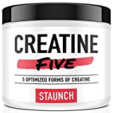 Cheap Staunch Creatine Five Creatine Powder (Unflavored) 50 Servings – Creatine Monohydrate, MagnaPower, Tri-Creatine Malate, Creatine Pyruvate, and Creatine Anhydrous