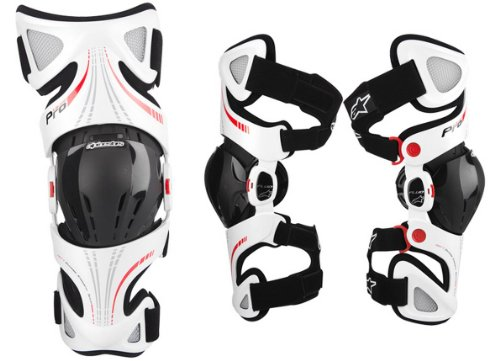 Alpinestars Fluid Pro Knee Brace Set - Sm/Lg , Size: Sm-Lg, Distinct Name: White, Gender: Mens/Unisex, Primary Color: White 6501314-231-SML by Alpinestars