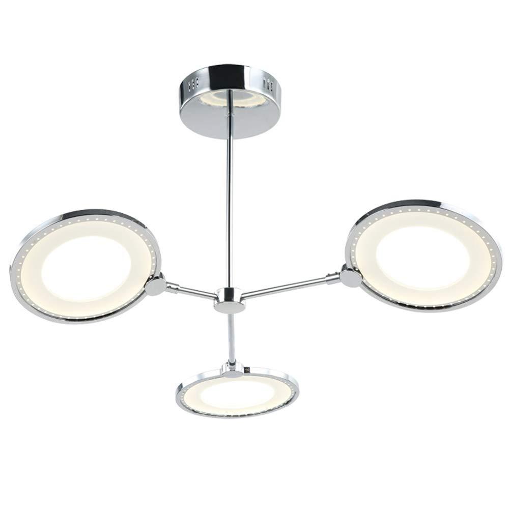 リビングルームledライトフラッシュマウントシーリングライト36ワットクローム天井照明器具シンプルスタイル寝室ダイニングルーム,Warmlight  Warmlight B07SFHG87Y