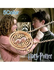 TKCJ New Arrival 18K Gold Plated Harry Potter Necklace Hourglass Necklace Time Turner Necklace