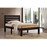 Major-Q Traditional Simple Espresso Finish Wood Frame Queen Bed for Bedroom (7021080Q)